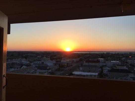 Sunset views right outside of entrance of unit