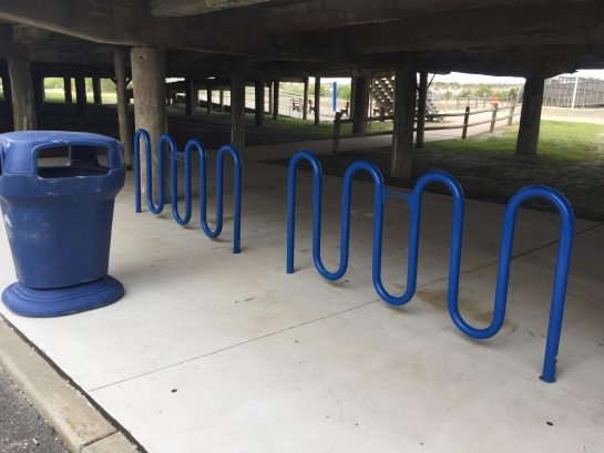 Bike racks outside of building