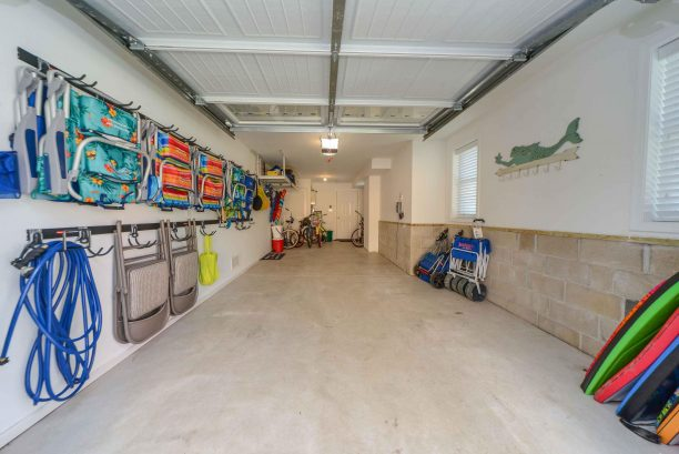 Garage for 1 vehicle, space for 2 in drive, beach supplies for your use, bikes