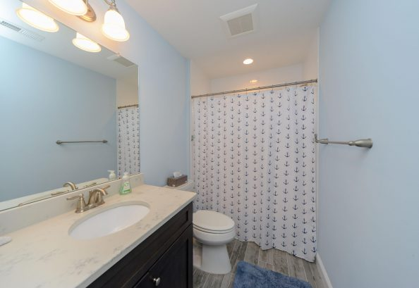 2nd floor hall bathroom with shower tub