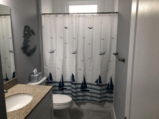 1st floor hall bathroom with tub shower