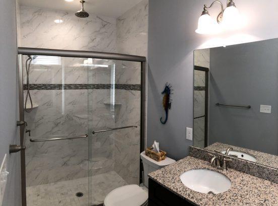 1st fl master bathroom with rain shower