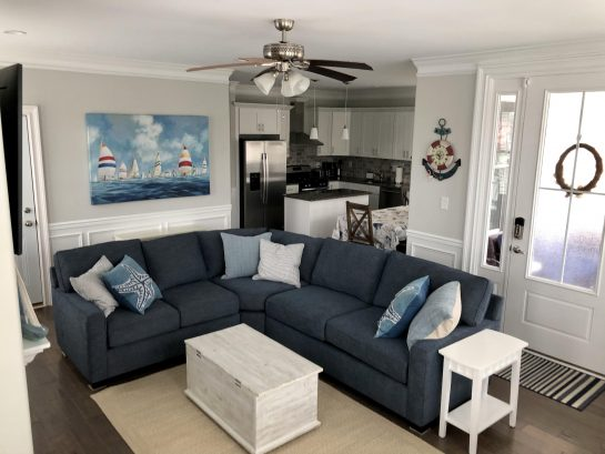 1st floor family room, sleeper sectional (full)