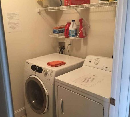 Laundry room w/full size washer & dryer