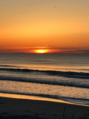 Start your day with a sunrise at the beach, only 1.5 blocks from the property. Enjoy the views!