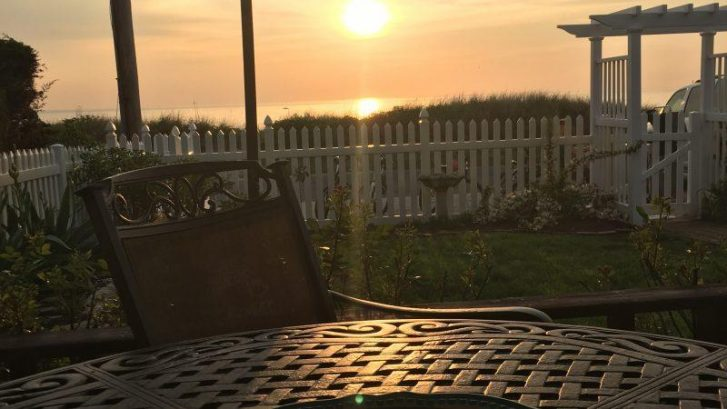 Your view from the deck.  Enjoy outdoor dining watching the sunsets!