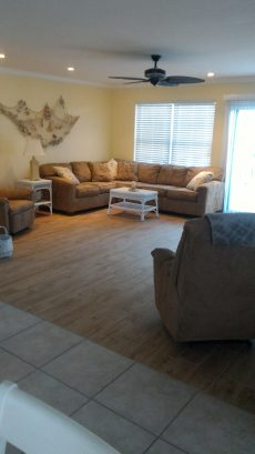 Living Room with new tile flooring