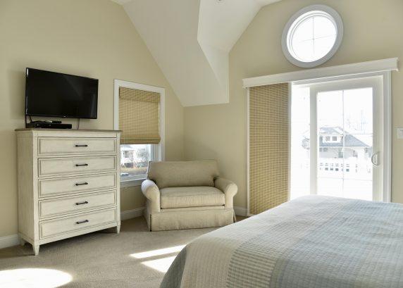 "Master Bedroom with 46"" Smart TV"
