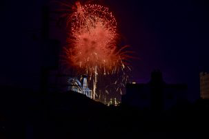 Fireworks view from upstairs sundeck
