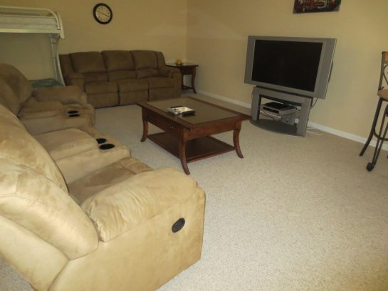 2nd Living Room Area- Sectional & TV