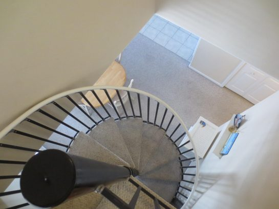 View of Spiral Stairs from Loft