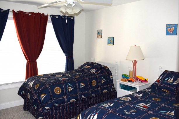 Twin beds and cot