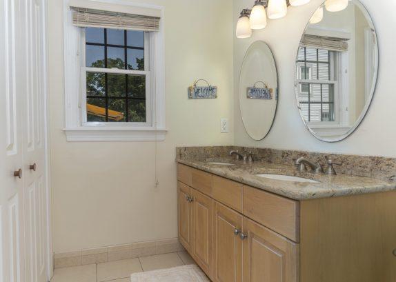 1st floor full bath with double sinks