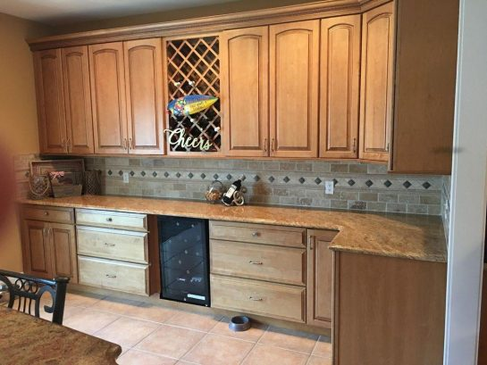 Kitchen side cabinets
