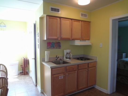 kitchenette area