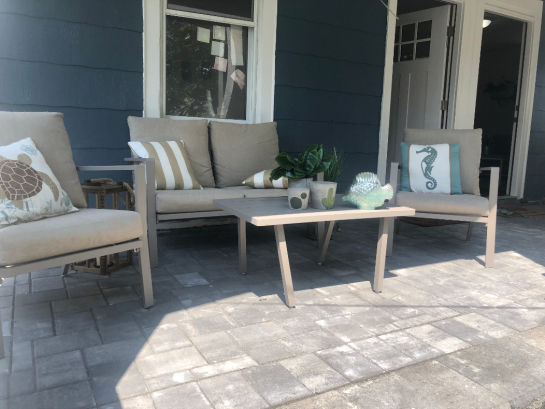 brand new, redone porch in summer 2019