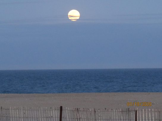 full moon at the beach