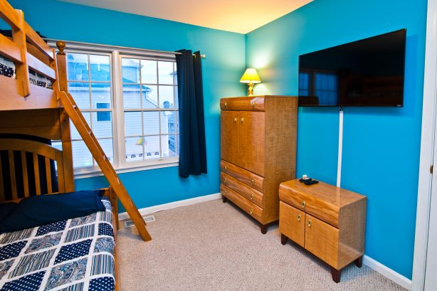 You will love the bunk bed room! This is not your normal bunk bed, no expense was spared on finding the largest and best bunk bed money can buy! You can comfortably sleep three adults in this bed. That combined with extremely high quality bed line...