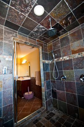 ❤️ Enjoy for yourself an Incredible master bathroom, we not only have one but TWO Master Bathrooms for you to use. This is a Luxury En-Suite with a HUGE walk-in-shower that doubles as a STEAM SHOWER! Turn-on the Steam Shower and the Heated Tile Fl...