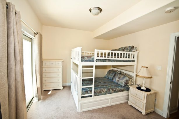 ❤️ You will love the HUGE bunk bed room! This is not your normal bunk bed, no expense was spared on finding the largest and best bunk bed money can buy! The bunk bed has a high quality pull out Trundle Bed underneath it. You can comfortably sleep ...
