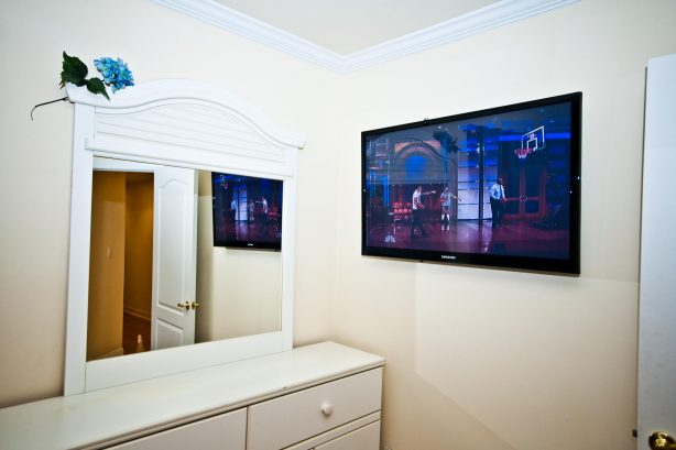 ❤️ Relax with a Large LED HDTV in the master bedroom. Catch up on the morning or evening news or watch your favorite TV show. We also offer free HBO!