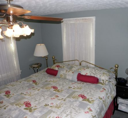 Wonderful King sized bed in Master BR with flat screen TV and its own bath