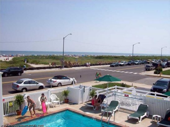 View of 9th Street beach from your deck