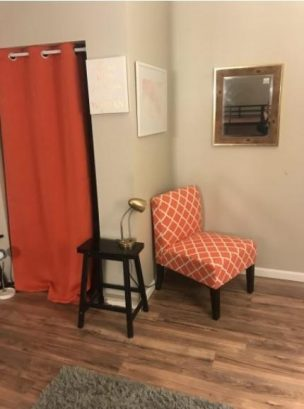 Small seat in bedroom