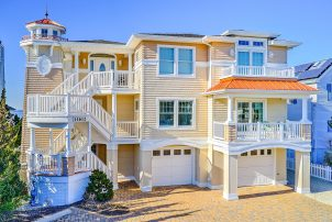 New Bayfront Duplex on Long Beach Island with 80ft Dock